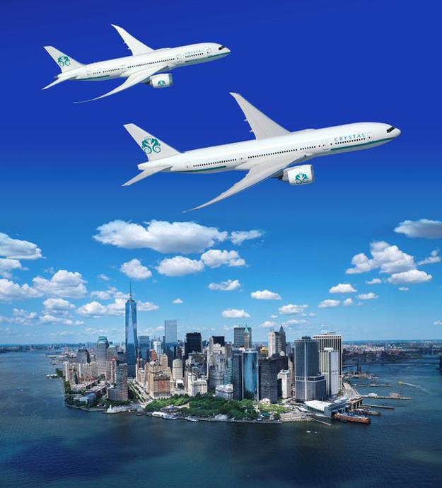 Crystal Luxury Air over NYC (Crystal)(LR)