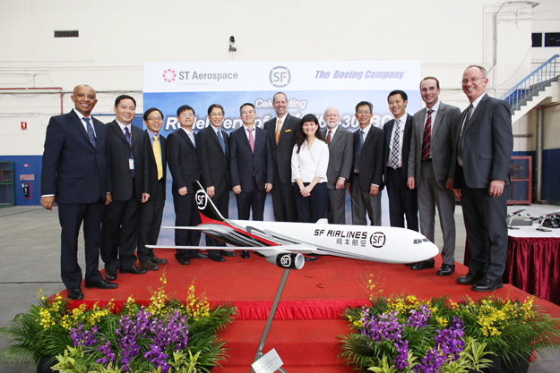 SF Airlines 767-300BCF delivery ceremony (Boeing)(LRW)