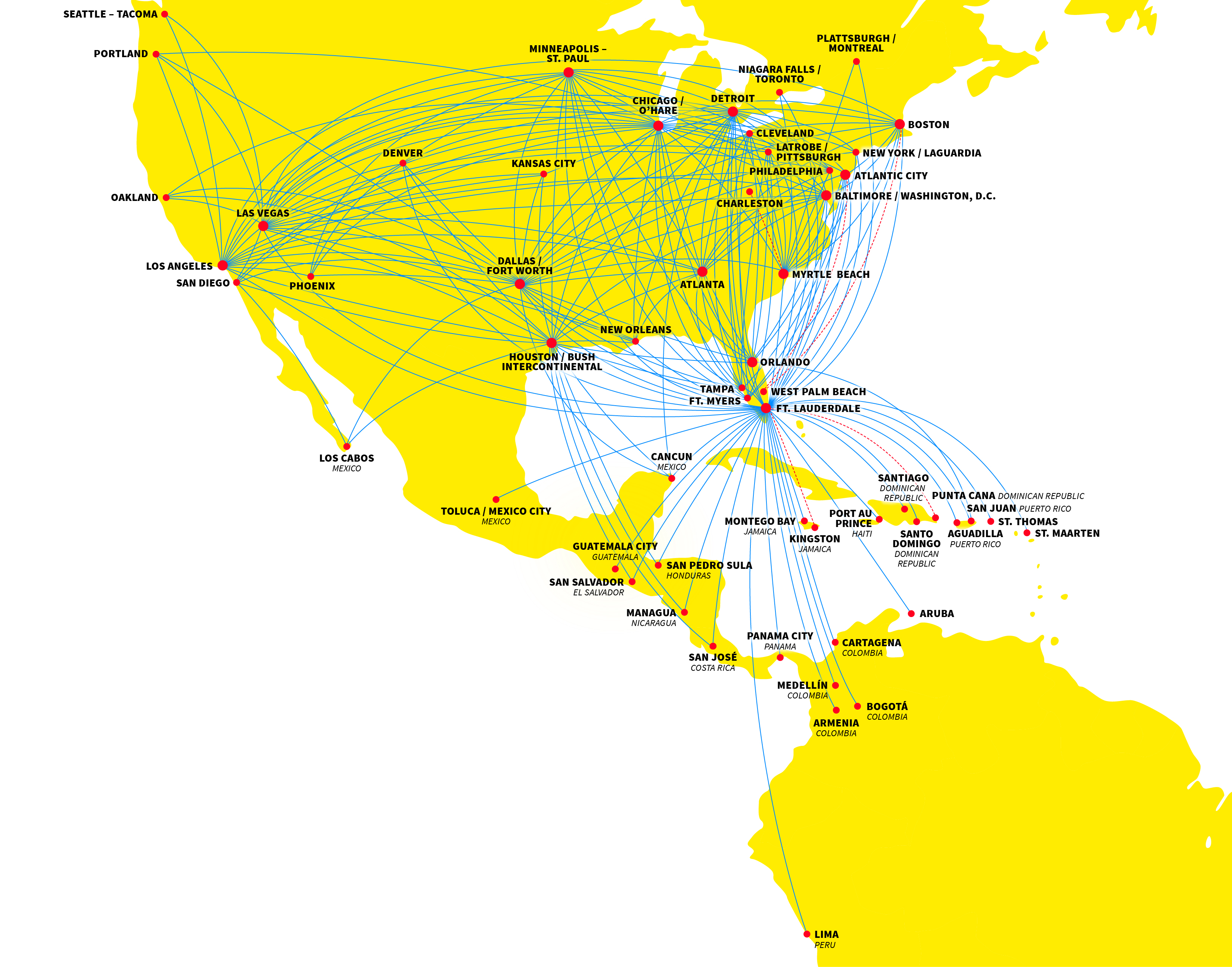 Spirit airlines to add two seasonal routes from for Spirit airlines new york