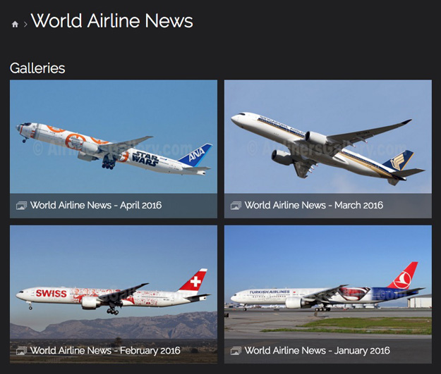 AG World Airline News photo layout (LRW)