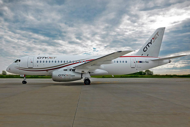 CityJet Superjet 100 EI-FWA (15)(Grd-1) VCE (Sukhoi)(LR)