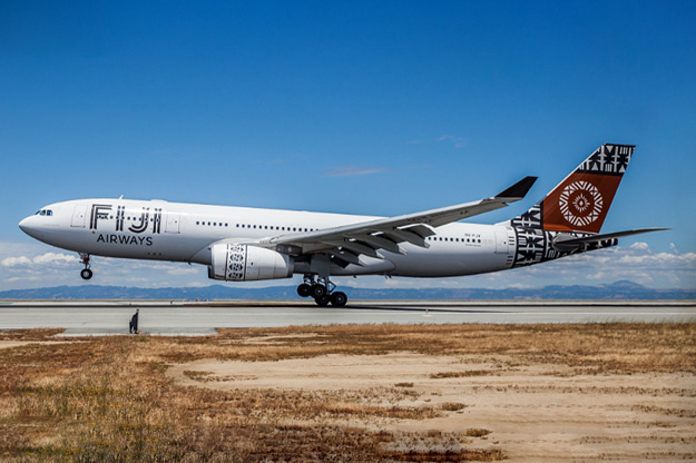 Fiji Airways Inaugural Flight Lands at SFO (PRNewsFoto/Fiji Airways)