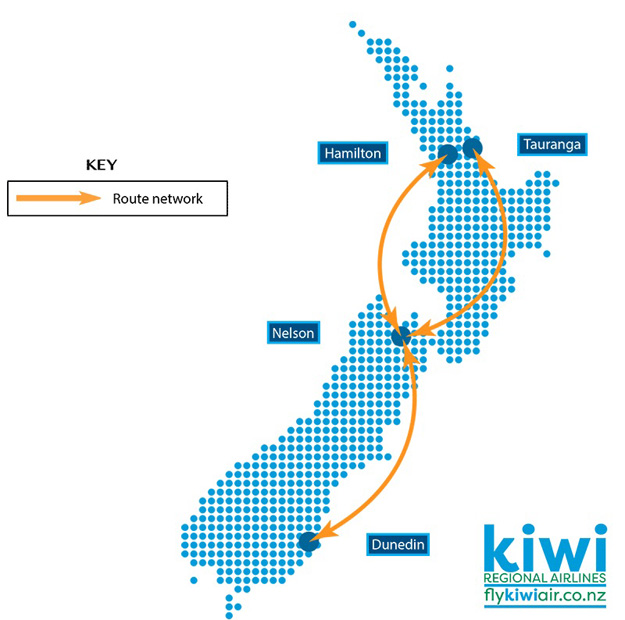 Kiwi Regional 6.16 Route Map