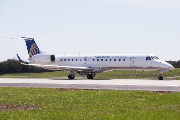 CommutAir Begins Commercial Service with ERJ-145XR Aircraft for United Express (PRNewsFoto/CommutAir)