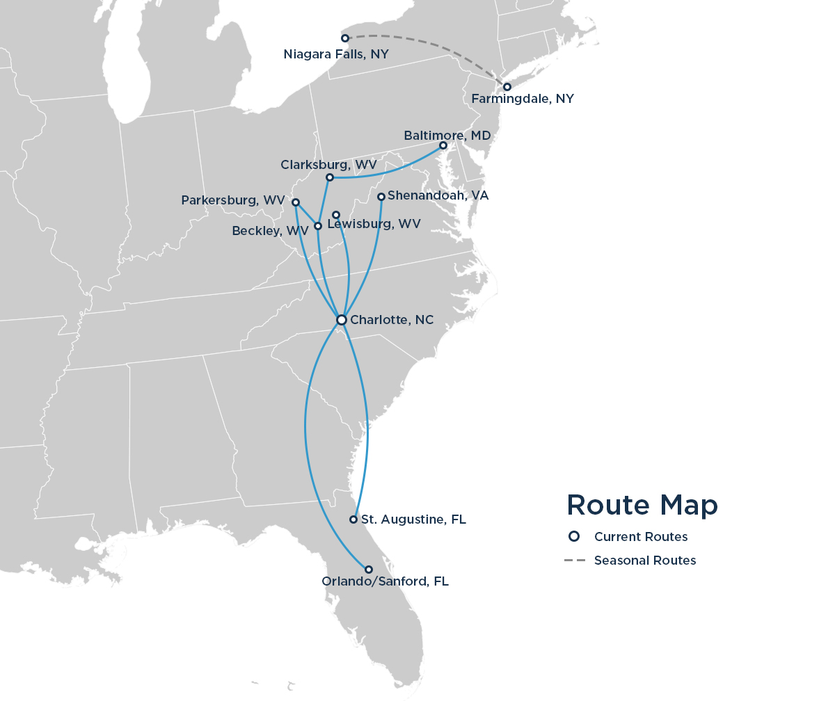 ViaAir to add two routes from Charlotte | World Airline News