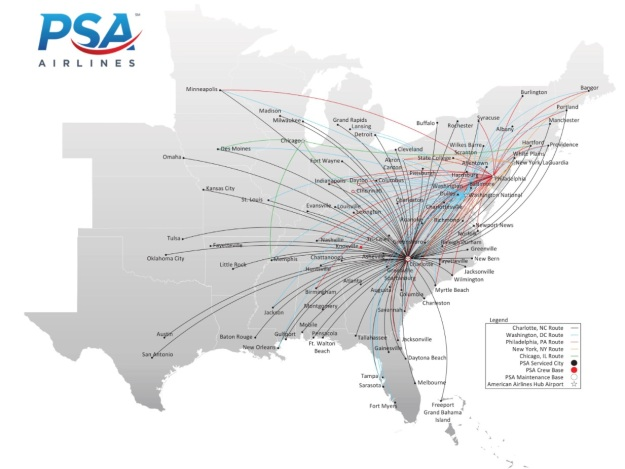 American eagle world airline news psa airlines route map publicscrutiny Gallery
