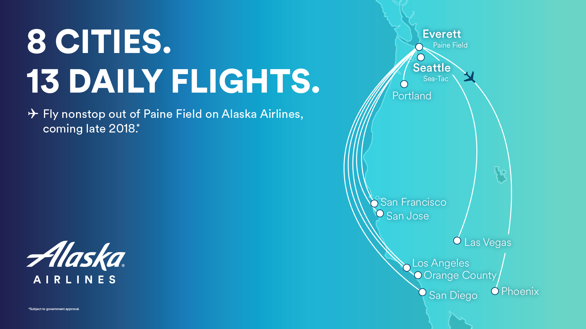 Alaska Unveils 13 Daily Departures To 8 Destinations From