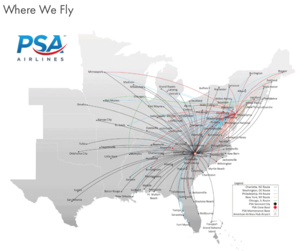 Psa Airlines Announces Two New Crew Bases At Philadelphia