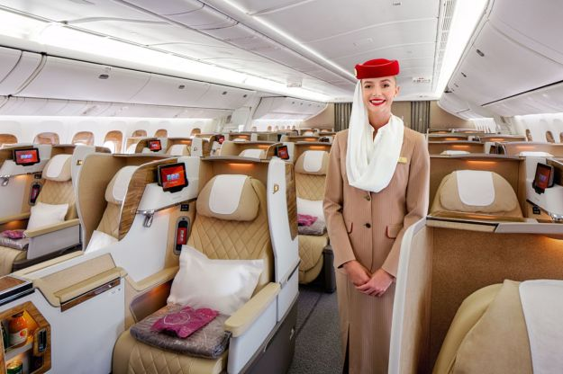 Emirates Has Unveiled A Brand New Business Class Cabin And Configuration On Its Boeing 777 200LR Aircraft With Wider Seats Laid Out In 2