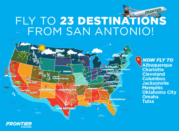 Frontier Adds Nine New Routes From San Antonio World