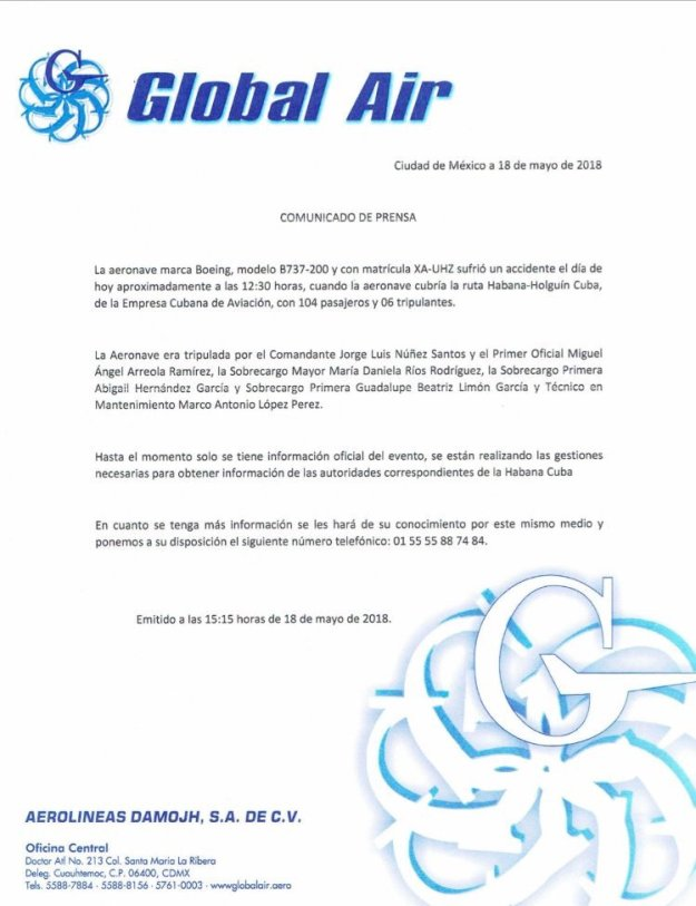 Boeing 737-200 crashes on takeoff in Cuba operating for Cubana ...
