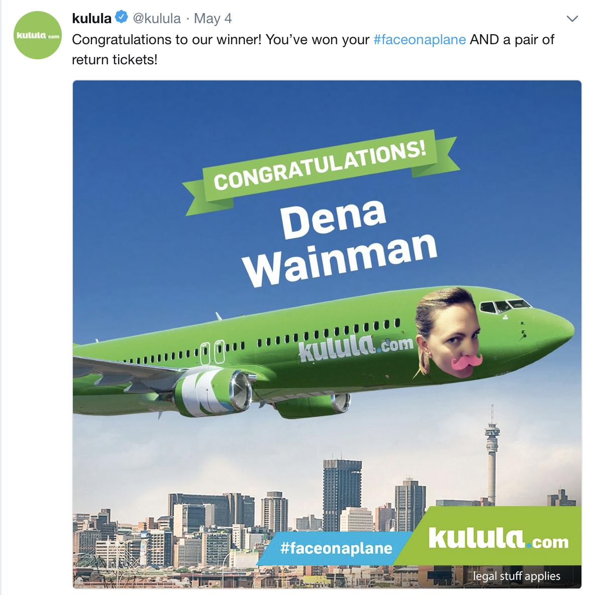 The first winner on Kulula | World Airline News