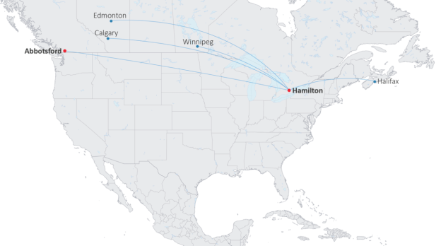 Canada Jetlines Route Map Canada Jetlines prepares for takeoff with definitive lease