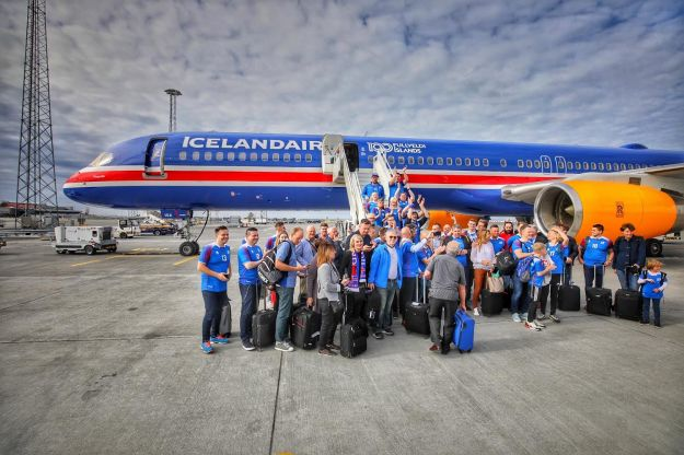 Icelandair flies their national flag in the skies with a new