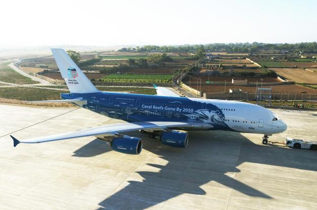 """Hi Fly unveils its new Airbus A380 in the special """"Save the"""