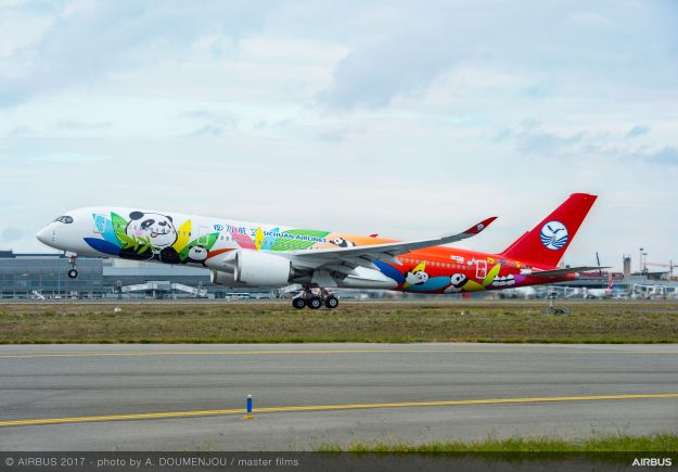 Sichuan Airlines takes delivery of its first Airbus A350-900