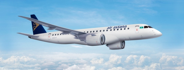 Air Astana takes delivery of its first Embraer E190-E2 | World