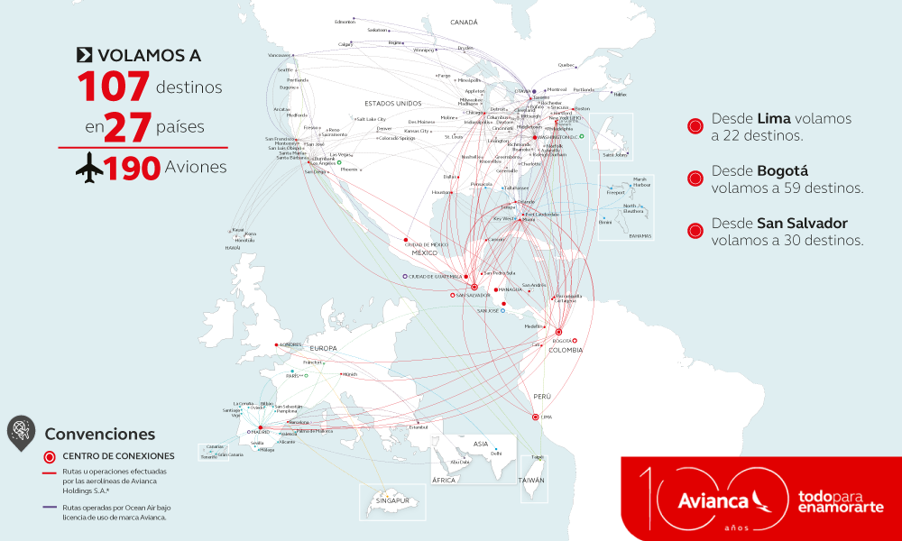 Avianca Airlines enters its 100th year of uninterrupted ...