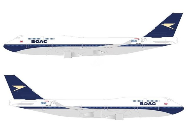 British Airways to paint a Boeing 747-400 in the BOAC livery, the