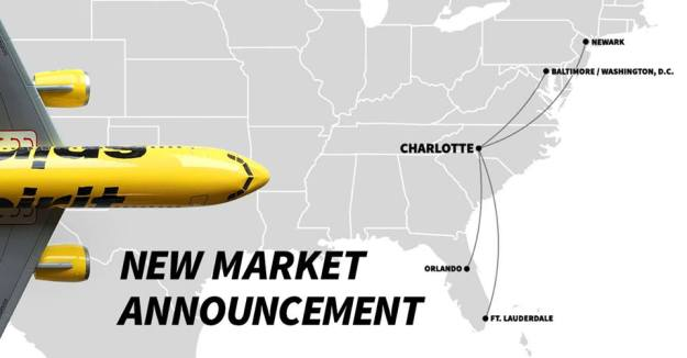 f155010bf8e Spirit Airlines is coming to Charlotte