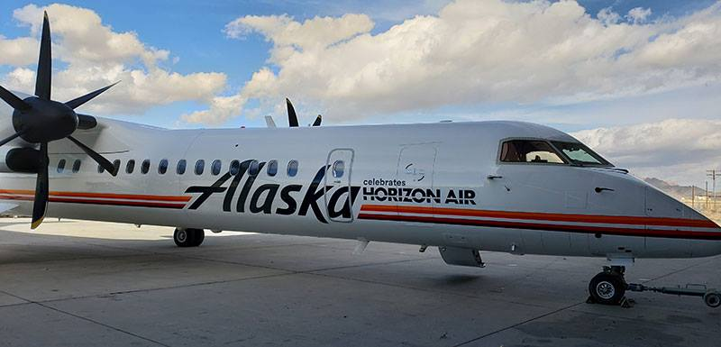 sports shoes 12922 c1ef1 Horizon Air celebrates its 1981 beginnings with this special livery on  N421QX   World Airline News