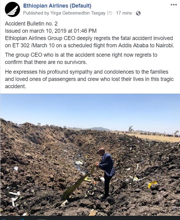 Ethiopian Boeing 737-8 MAX 8 ET-AVJ crashes in Ethiopia ...