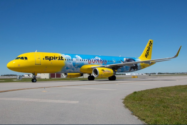 "Spirit Airlines introduces an Airbus A321 ""Disney Dumbo"