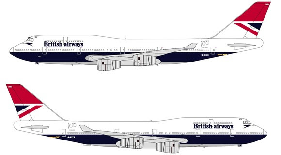 BRITISH AIRWAYS Boeing 747-400 MODEL BA registration G-CIVM BA Jumbo Jet 747 NEW