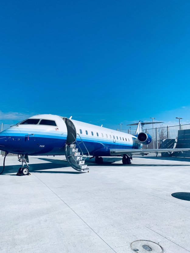Bombardier celebrates the donation of a CRJ200 to Centennial