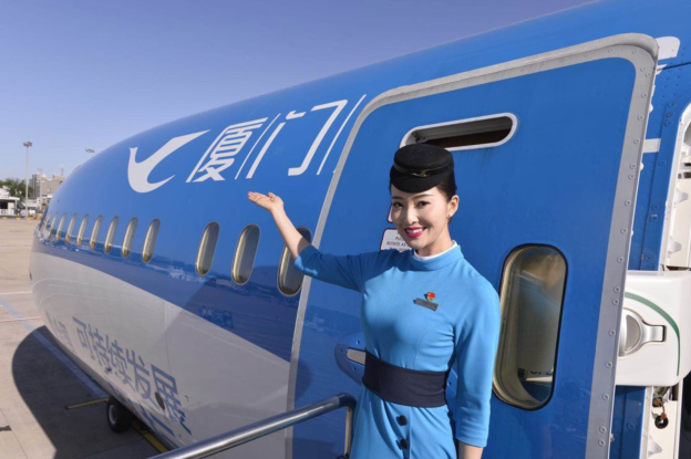 4 airliners test the new Beijing Daxing International