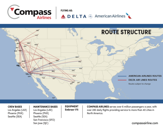 Delta to end its relationship with Compass Airlines and GoJet ...