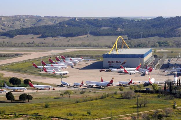 photos of the day iberia aircraft stack up at the madrid base world airline news iberia aircraft stack up at the madrid