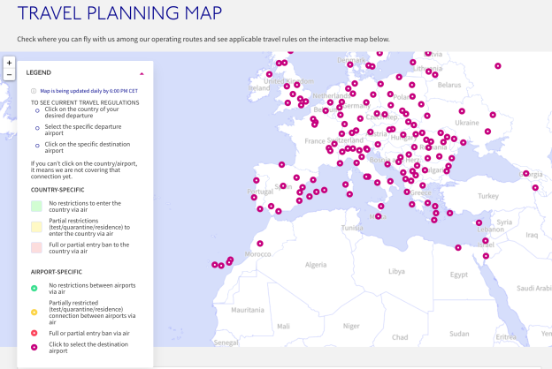 Wizz Air Launches Interactive Travel Planning Map World Airline News