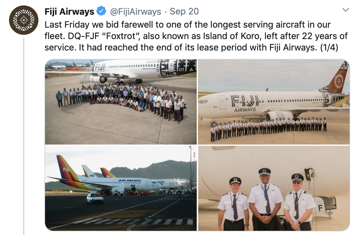 Fiji Airways retires its only Boeing 737-700 | World Airline News